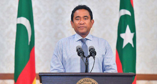 Maldives President Yameen Blames Election Defeat On 'Disappearing Ink