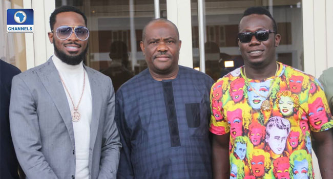 Wike Seeks Career Opportunities For Rivers Youths As D'Banj Visits