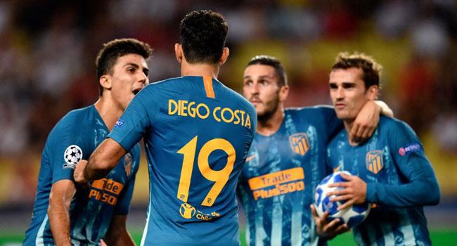 Griezmann And Costa Lead Atletico Madrid Past Monaco