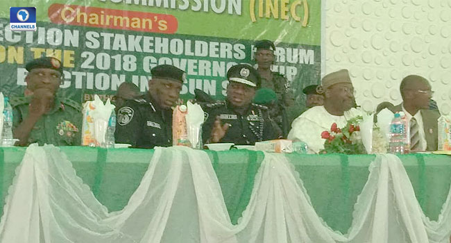 Osun Election: INEC Chairman, IGP Meet With Stakeholders In Osogbo