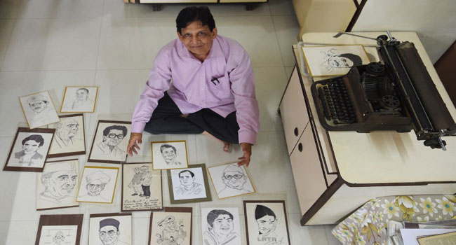 72-Year-Old Indian Artist Draws Portraits With Typewriter