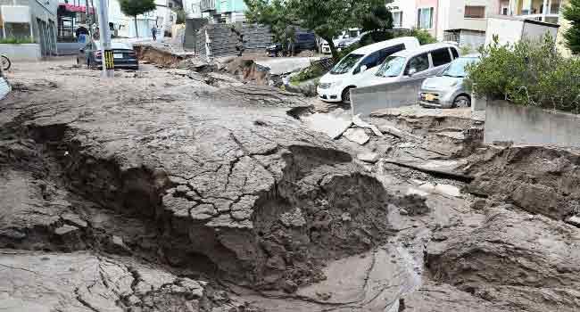Japan Quake, Landslides Leave At Least Nine Dead