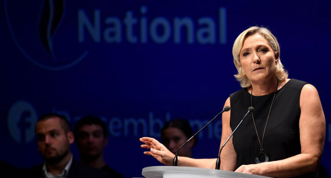France's Le Pen Ordered To Undergo Psychiatric Tests Over IS Tweets