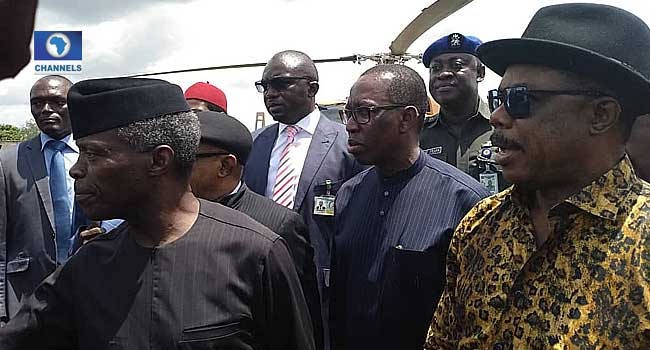 Flood Disaster: Osinbajo Visits Anambra