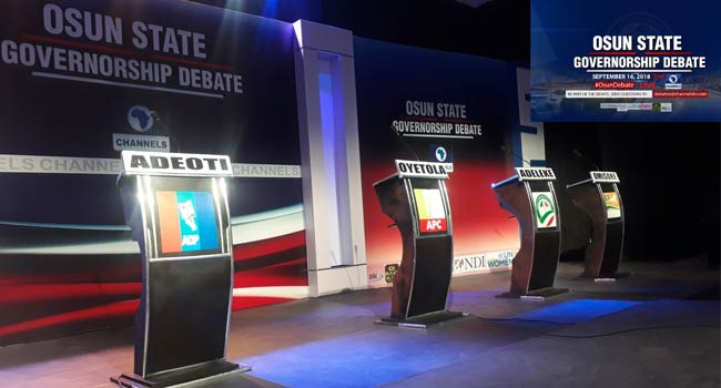 All Is Set For Channels TV's #OsunDebate