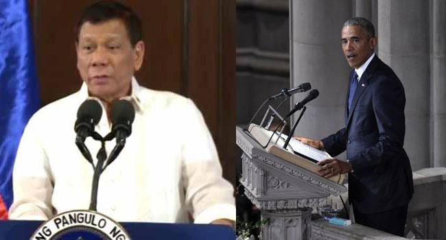 Philippines' Duterte Apologises For Cursing Obama