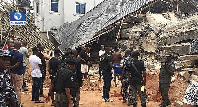 Two Trapped, Nine Rescued As Building Collapses In Anambra