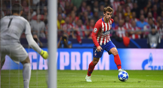 Griezmann Scores Twice As Atletico See Off Brugge