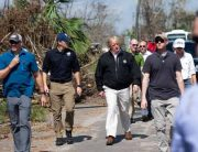 Trump Surveys Hurricane Damage In Florida