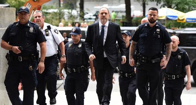 US Judge Dismisses Charge Against Harvey Weinstein