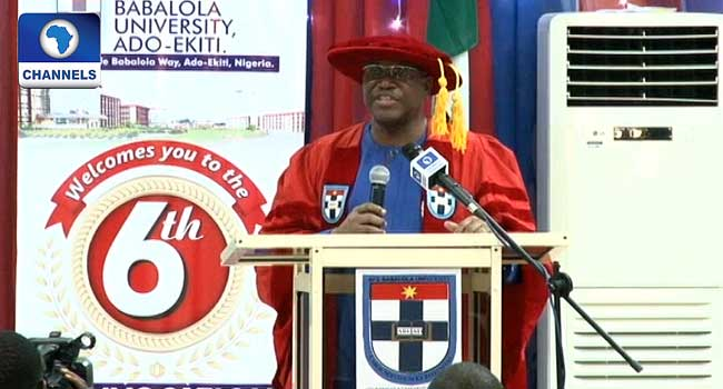 Speech By John Momoh At The Afe Babalola University Convocation Lecture