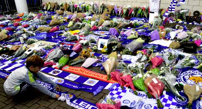 Fans React After Leicester City Helicopter Crash
