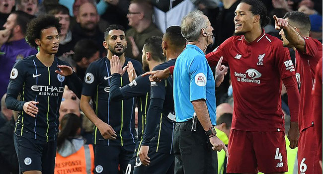Liverpool's Van Dijk Escapes Penalty Pain In City Draw