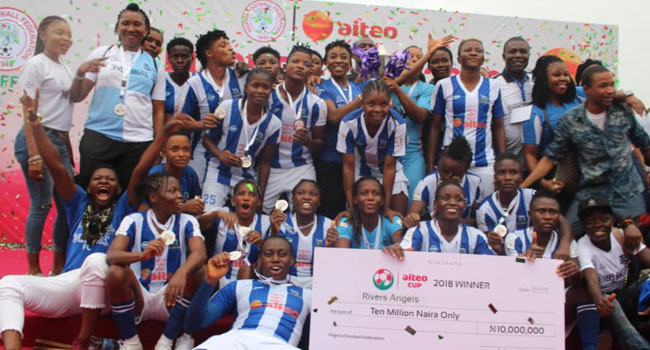 Wike Congratulates Rivers Angels On AITEO Federation Cup Win