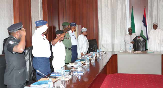 What We Discussed With Buhari At Security Council Meeting – Defence Minister
