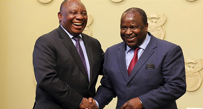 Former South African Central Bank Governor Mboweni Takes Over As Finance Minister