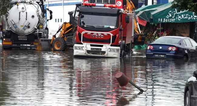 Flash Floods Kill Five, Leave Two MissingIn Tunisia