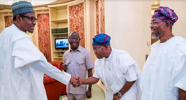 Oyetola, Aregbesola Visit Buhari In Abuja