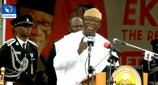 Fayemi Sworn In As Ekiti Governor, Promises Transparency, Accountability