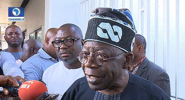 Tinubu Visits Buhari, Rejects Calls For Oshiomhole's Removal