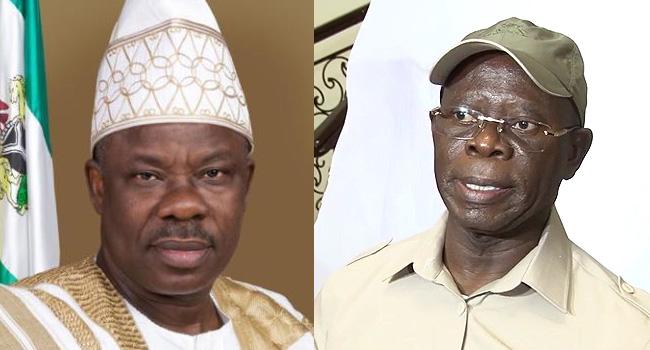 2019: Amosun Replies Oshiomhole, Accuses Him Of Aiding Plot To Hijack Ogun Govt
