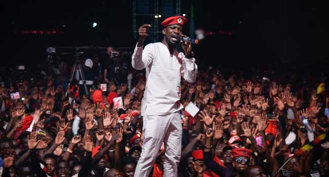 Bobi Wine Performs Concert In Uganda As Police Watch On