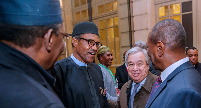 Buhari Attends Dinner For Visiting Heads Of State In Paris