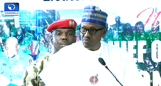 No Efforts Will Be Spared In Supporting Military To Achieve Its Task – Buhari