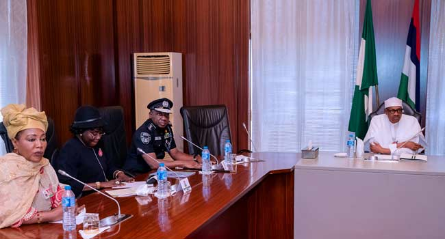 President Buhari Meets With NSA, Others