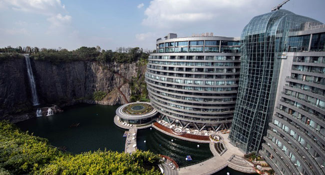 China Opens Luxury Hotel In Formerly Abandoned Quarry