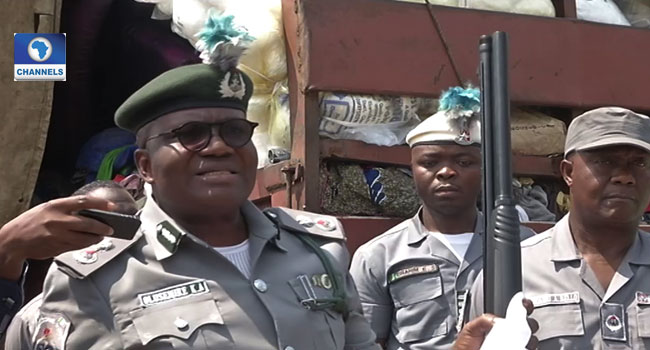 Customs Intercept Trailer Load Of Military Wears, Arms And Ammunition