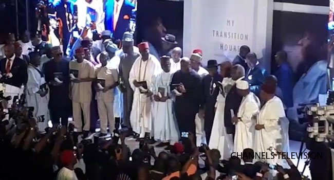 Oshiomhole, Akpabio, Former Heads Of State Attend Jonathan's Book Launch