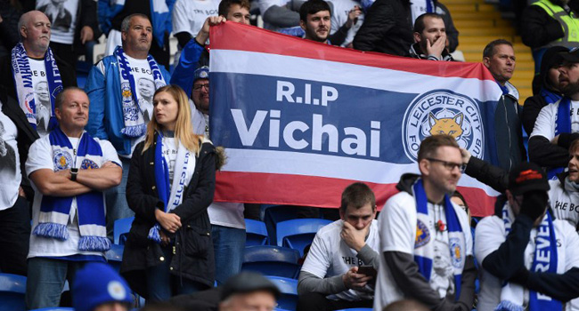 Leicester City Pay Emotional Tribute To Late Owner Vichai Srivaddhanaprabha