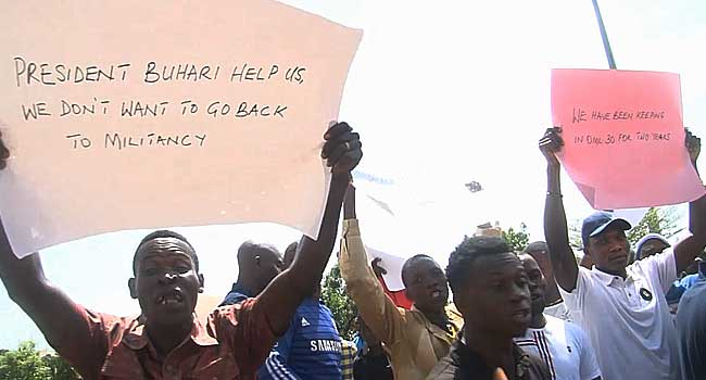 Ex-Militants In Delta Protest At Govt House Over Jobs