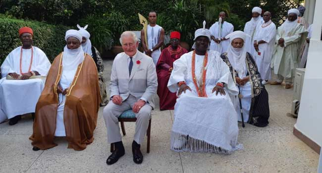VIDEO: Nigerian Traditional Rulers Meet With Prince Charles
