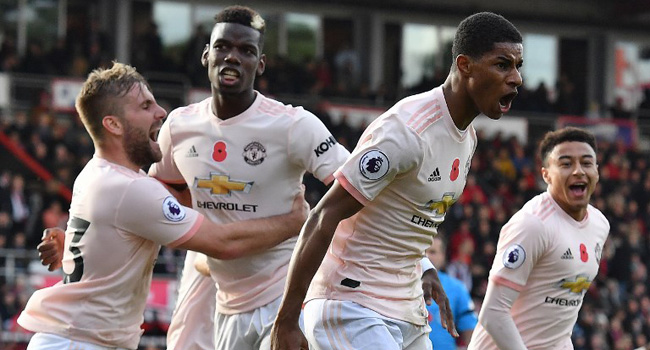 Rashford's Seals Last-Gasp Victory For United At Bournemouth
