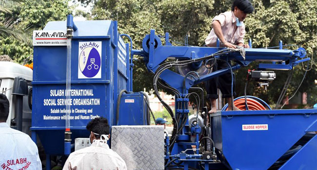 #WorldToiletDay: Indian Launches New Machine To End Death Of Manual Scavengers