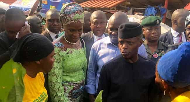 Osinbajo Monitors TraderMoni Activities In Lagos Markets