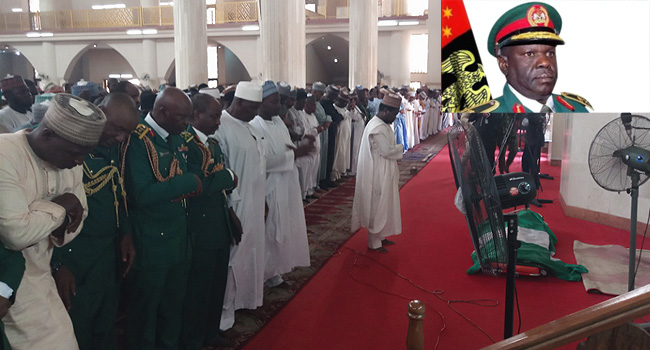 Buratai, Others Attend Burial Of Murdered General Alkali
