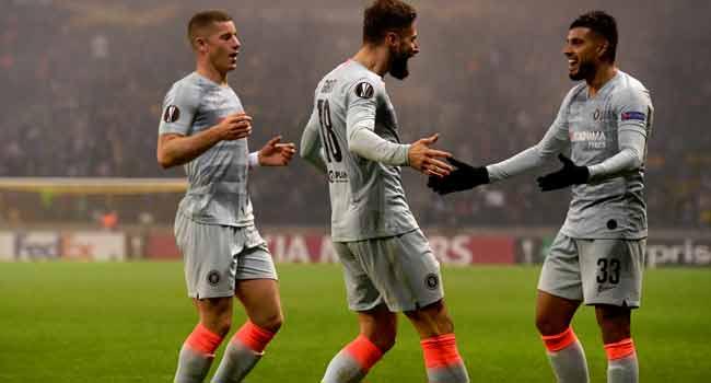Giroud Heads Chelsea Past BATE, Rangers Lose Thriller At Spartak