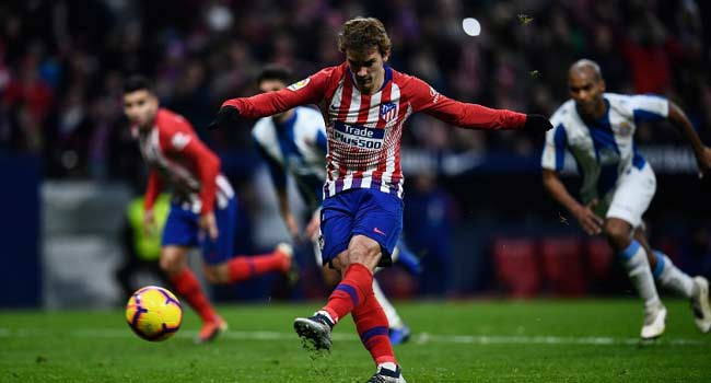 Griezmann Fires Atletico Level With Barcelona
