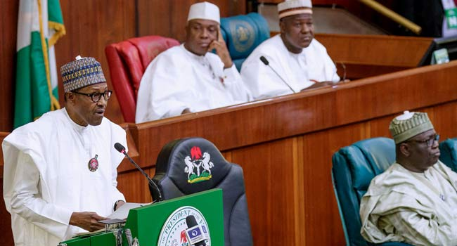 'The World Is Watching,' Buhari Tells Lawamkers Booing Him