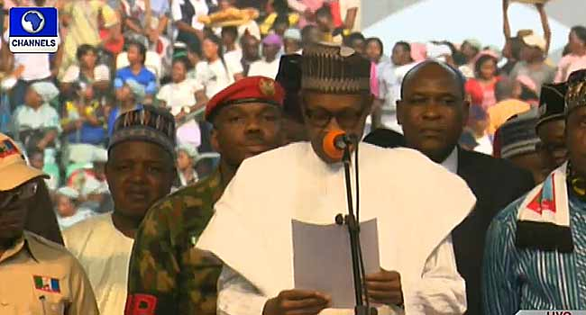 Buhari Arrives Uyo To Flag Off Presidential Campaign