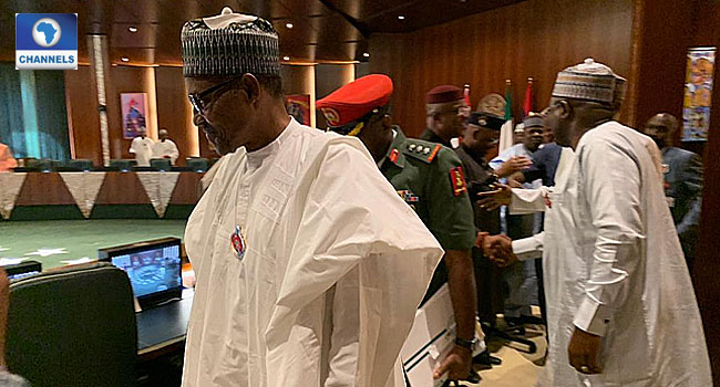 Buhari In Closed-Door Meeting With State Governors