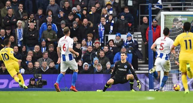 Hazard Keeps Chelsea In Title Hunt At Brighton