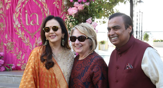 Beyonce, Hillary Clinton, Attend Wedding Of India Billionaire's Daughter