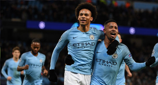 Sane Double Secures Champions League Top Spot For Man City