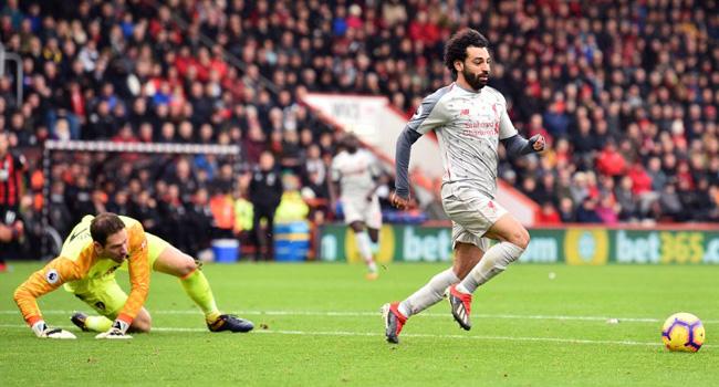 Salah Hat-Trick Sends Liverpool Top Of Premier League
