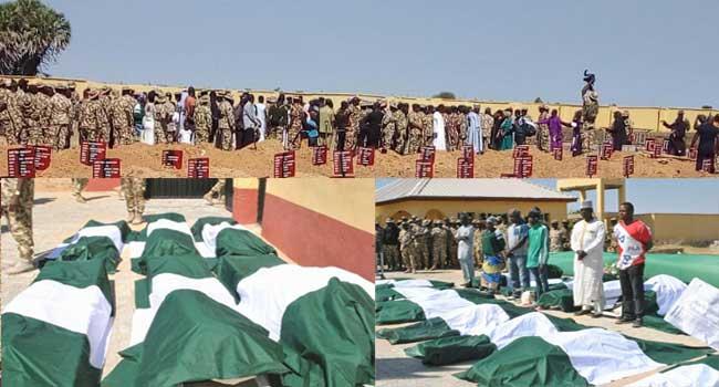 Nigerian Army Buries Fallen Metele Heroes – Channels Television