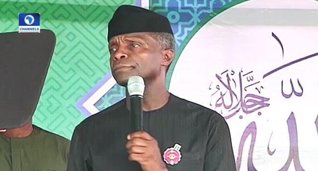 Osinbajo Calls For Religious Tolerance, Unity